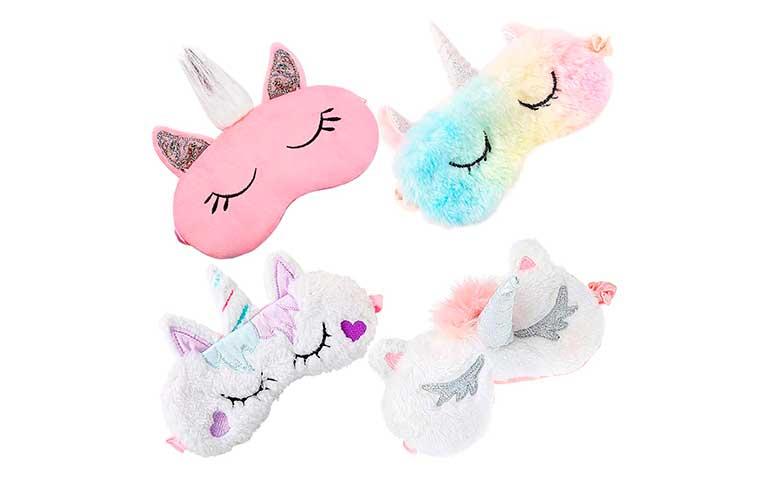 antifaz para dormir de unicornio